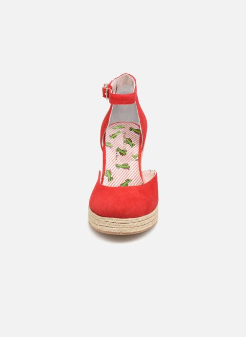 Espadrilles Mellow Yellow Depepina Rouge vue portées chaussures