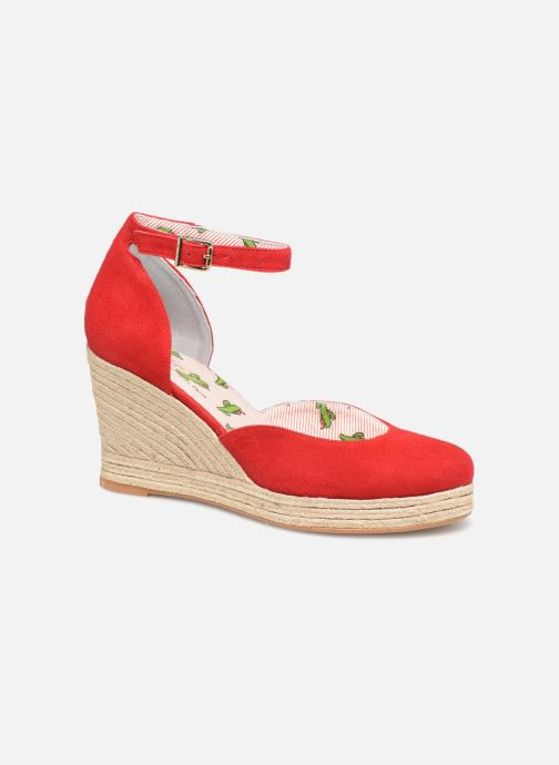 Espadrilles Mellow Yellow Depepina Red detailed view/ Pair view