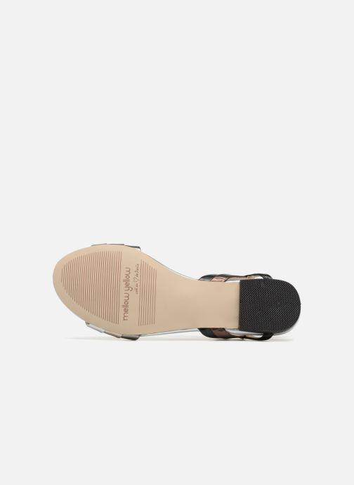 Sandales et nu-pieds Mellow Yellow Dany Noir vue haut