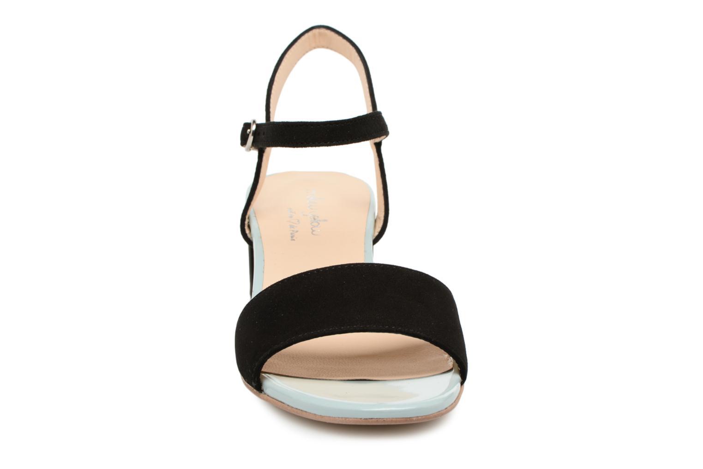 Sandales et nu-pieds Mellow Yellow Dovy Noir vue portées chaussures