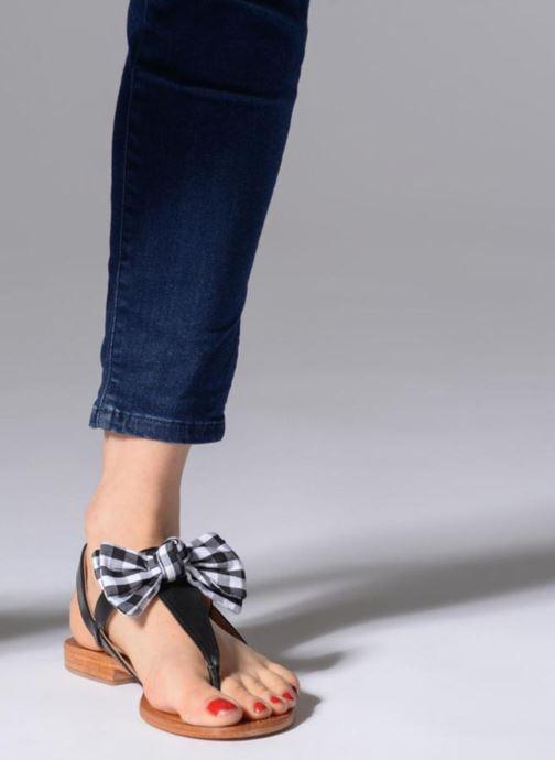 Sandales et nu-pieds Mellow Yellow Dallydolly Noir vue bas / vue portée sac