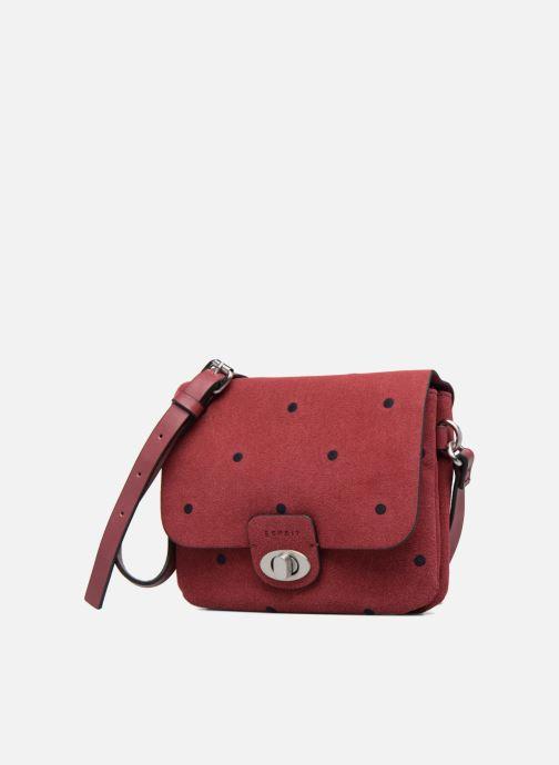 Sacs à main Esprit Aimee Dot Small Shoulder bag Bordeaux vue portées chaussures