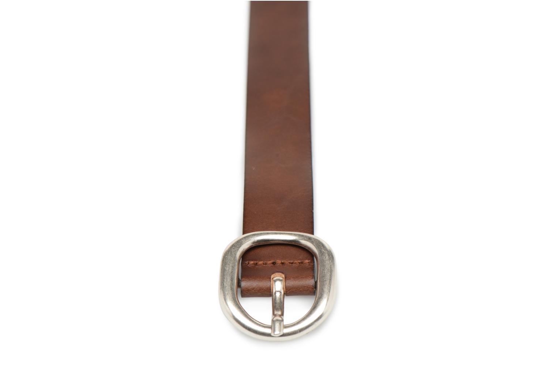 Ceintures Esprit Denim Leather Belt 20mm Marron vue portées chaussures