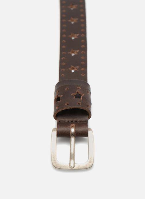 Riemen Esprit Star Perforated Leather Belt 25mm Bruin model