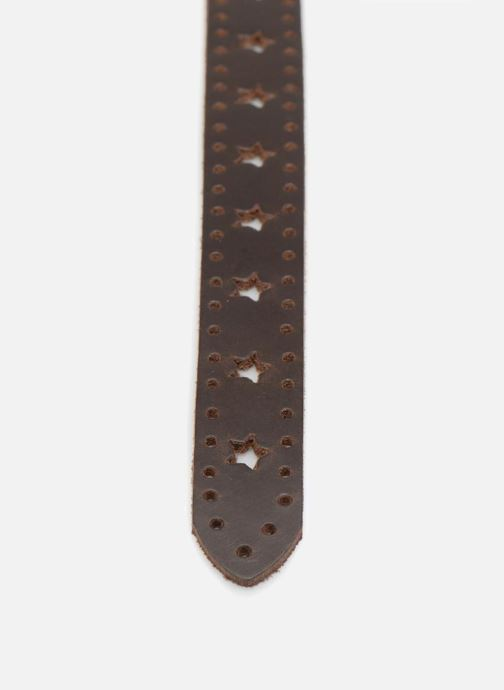 Riemen Esprit Star Perforated Leather Belt 25mm Bruin voorkant