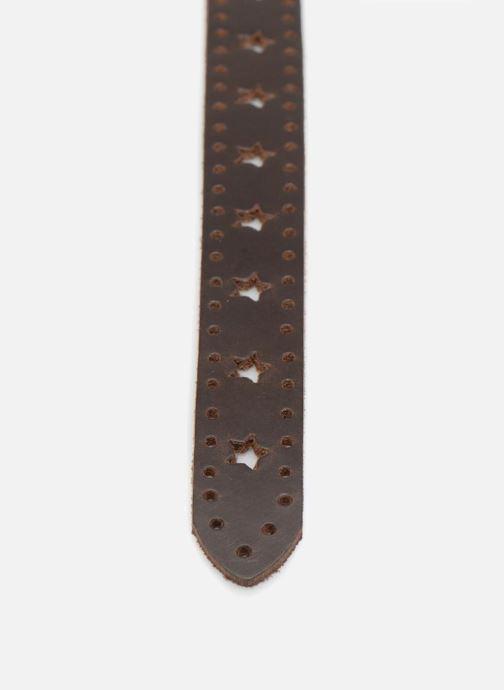 Riemen Esprit Star Perforated Leather Belt 25mm Bruin voorkant
