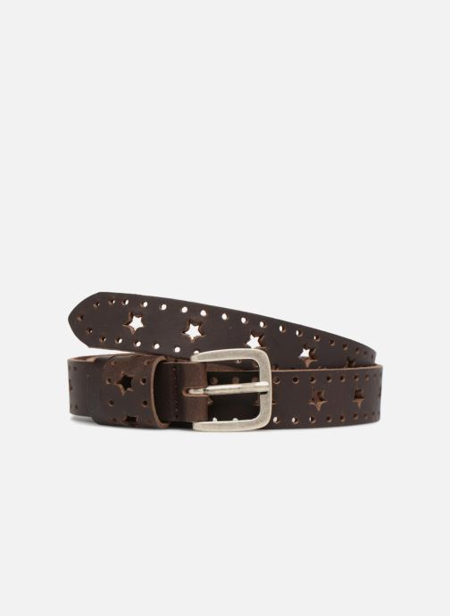 Riemen Esprit Star Perforated Leather Belt 25mm Bruin detail