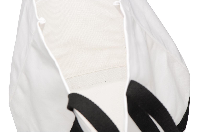 Handtassen Vanessa Bruno Cabas Coton Aamoureuse M+ Wit achterkant