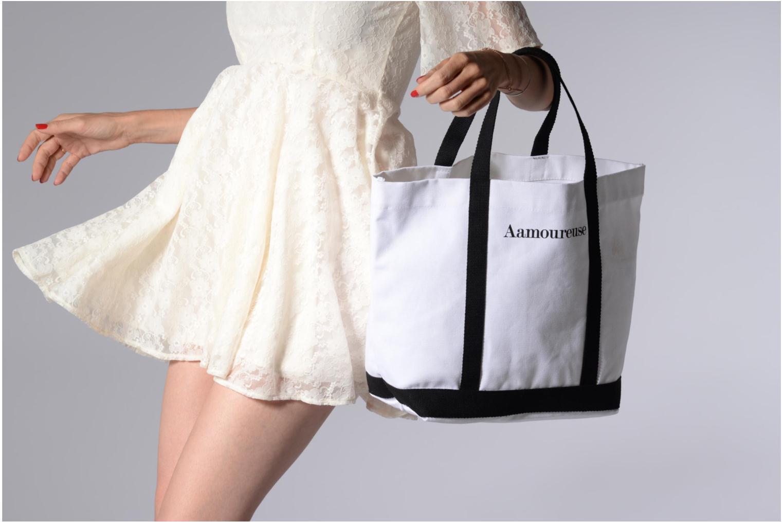 Handtassen Vanessa Bruno Cabas Coton Aamoureuse M+ Wit boven