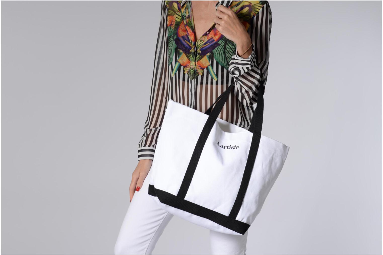 Handtassen Vanessa Bruno Cabas Coton Aartiste Wit boven