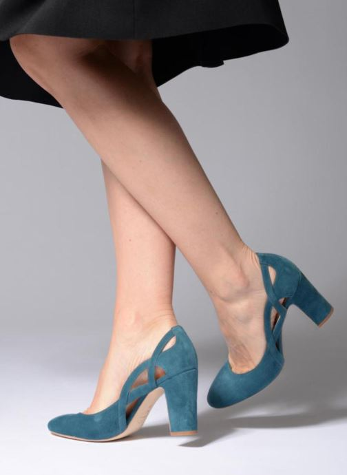 High heels Made by SARENZA Carioca Crew Escarpins #3 Green view from underneath / model view