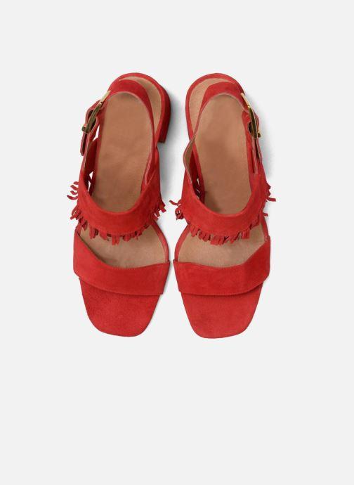Sandali e scarpe aperte Made by SARENZA Bombay Babes Sandales à Talons #1 Rosso modello indossato
