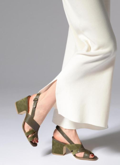 Sandales et nu-pieds Made by SARENZA 90's Girls Gang Sandales à Talons #2 Vert vue bas / vue portée sac