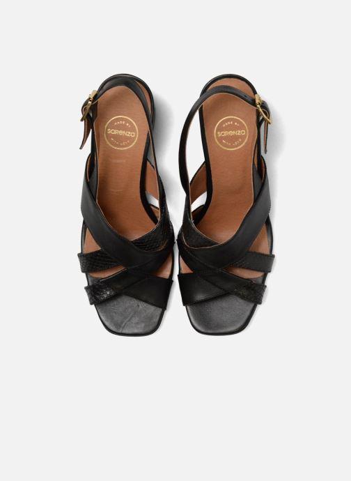 Sandali e scarpe aperte Made by SARENZA 90's Girls Gang Sandales à Talons #2 Nero modello indossato