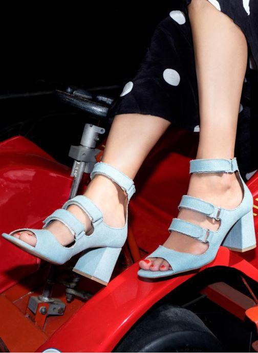 Sandales et nu-pieds Made by SARENZA 90's Girls Gang Sandales à Talons #3 Bleu vue bas / vue portée sac