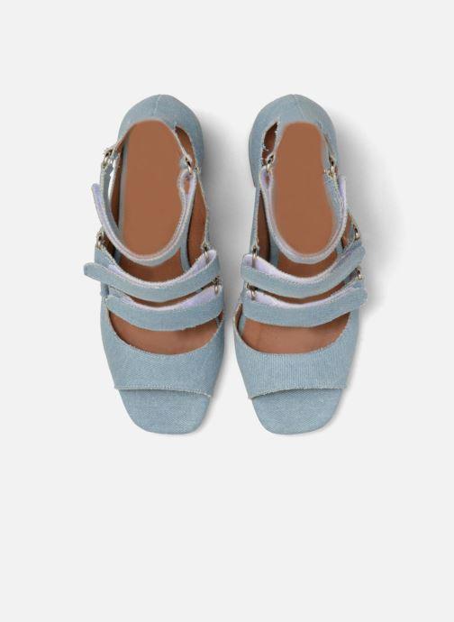 Sandales et nu-pieds Made by SARENZA 90's Girls Gang Sandales à Talons #3 Bleu vue portées chaussures