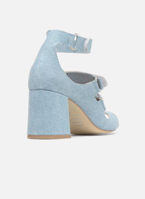 Sandales et nu-pieds Made by SARENZA 90's Girls Gang Sandales à Talons #3 Bleu vue face