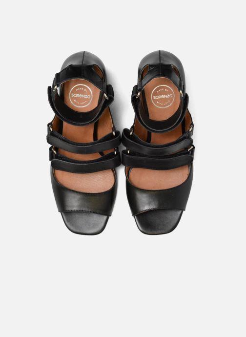 Sandali e scarpe aperte Made by SARENZA 90's Girls Gang Sandales à Talons #3 Nero modello indossato