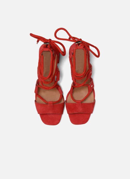 Sandales et nu-pieds Made by SARENZA 90's Girls Gang Sandales à Talons #4 Rouge vue portées chaussures