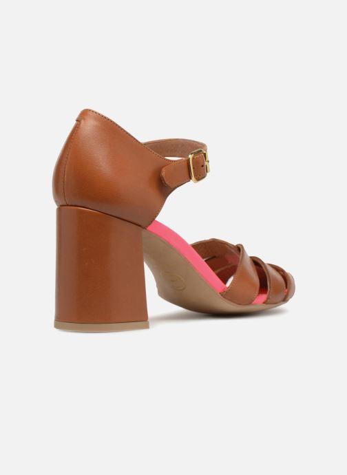 Sandali e scarpe aperte Made by SARENZA 90's Girls Gang Sandales à Talons #5 Marrone immagine frontale