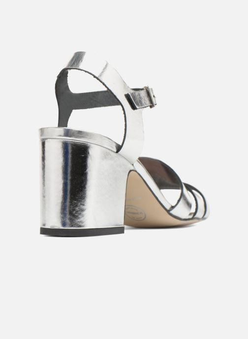 Sandales et nu-pieds Made by SARENZA 90's Girls Gang Sandales à Talons #6 Argent vue face