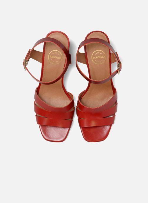 Sandali e scarpe aperte Made by SARENZA 90's Girls Gang Sandales à Talons #6 Rosso modello indossato