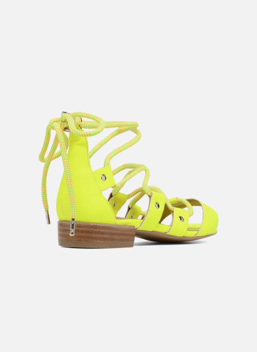 Sandales et nu-pieds Made by SARENZA 90's Girls Gang Sandales Plates #1 Jaune vue face