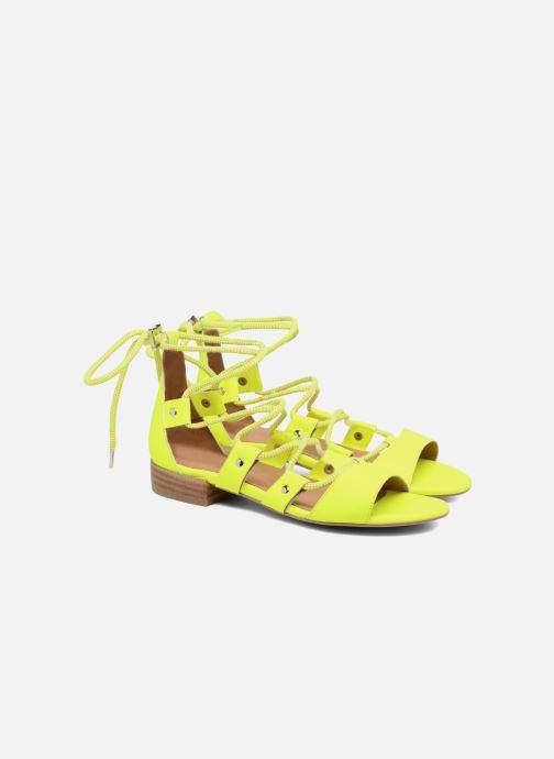 Sandales et nu-pieds Made by SARENZA 90's Girls Gang Sandales Plates #1 Jaune vue derrière