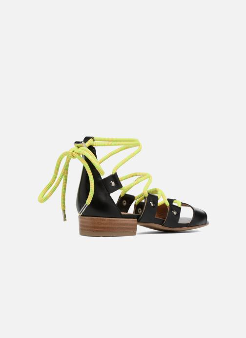 Sandales et nu-pieds Made by SARENZA 90's Girls Gang Sandales Plates #1 Noir vue face