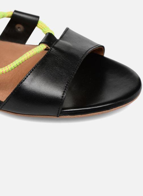 Sandales et nu-pieds Made by SARENZA 90's Girls Gang Sandales Plates #1 Noir vue gauche