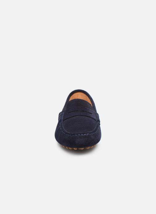 Mocassins Georgia Rose Stalimac Bleu vue portées chaussures
