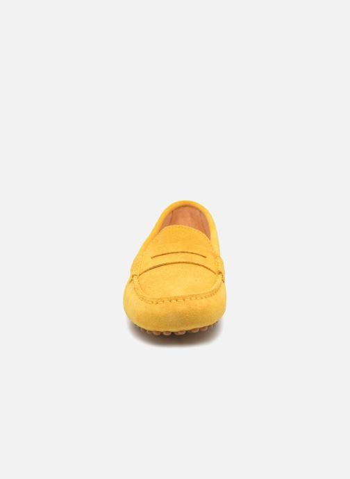 Slipper Georgia Rose Stalimac gelb schuhe getragen
