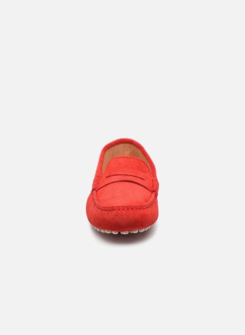 Mocassins Georgia Rose Stalimac Rouge vue portées chaussures