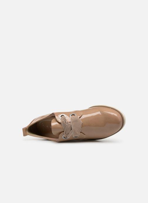 Scarpe con lacci Marco Tozzi Horio Beige immagine sinistra