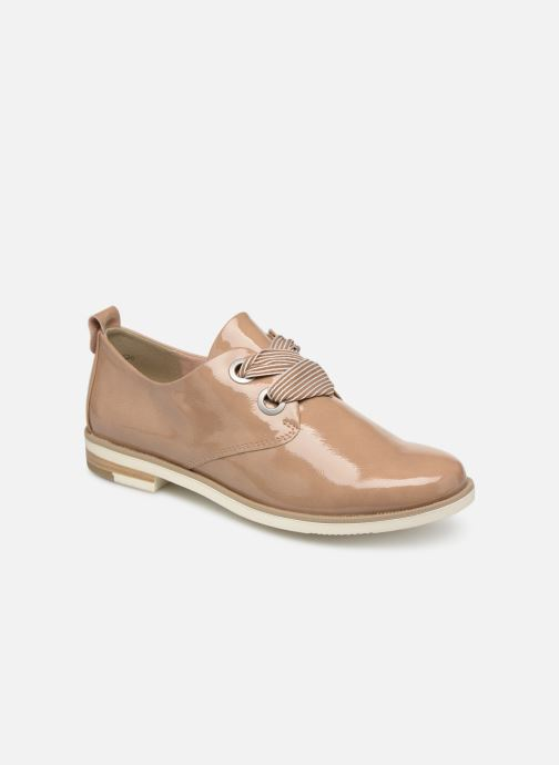 Lace-up shoes Marco Tozzi Horio Beige detailed view/ Pair view