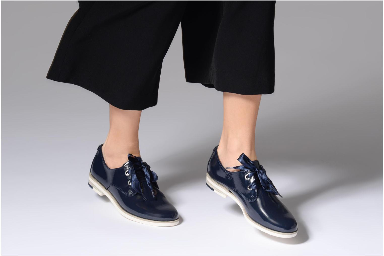 Chaussures à lacets Marco Tozzi Horio Bleu vue bas / vue portée sac