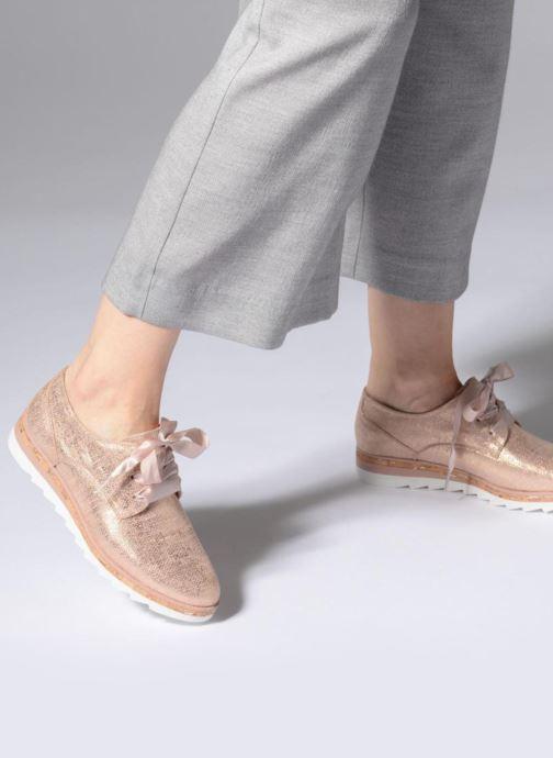 Chaussures à lacets Marco Tozzi Robol Rose vue bas / vue portée sac