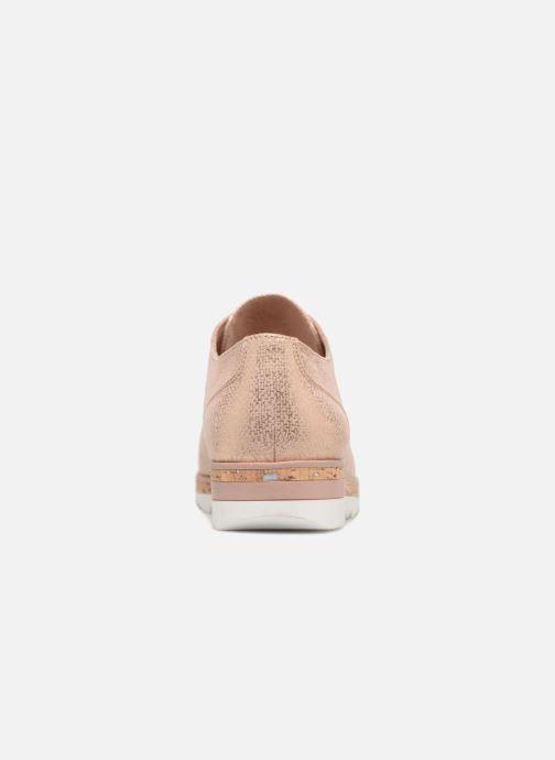 Zapatos con cordones Marco Tozzi Robol Rosa vista lateral derecha