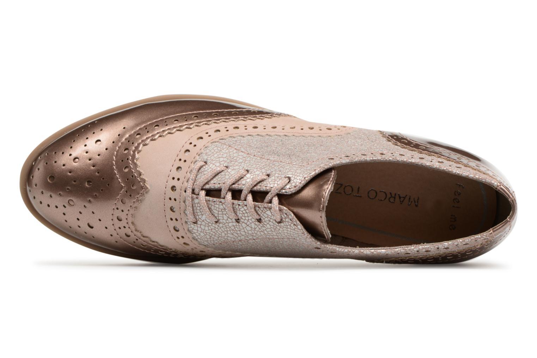 Chaussures à lacets Marco Tozzi Fomil Rose vue gauche