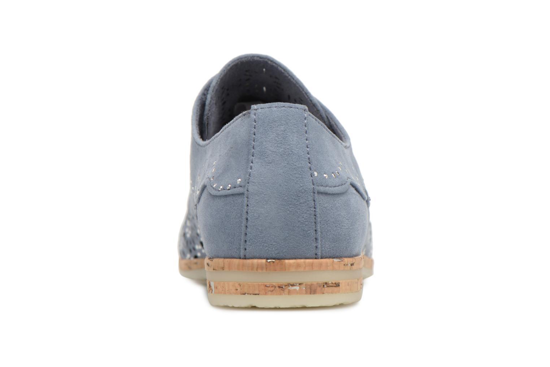 Chaussures à lacets Marco Tozzi Bellu Bleu vue droite