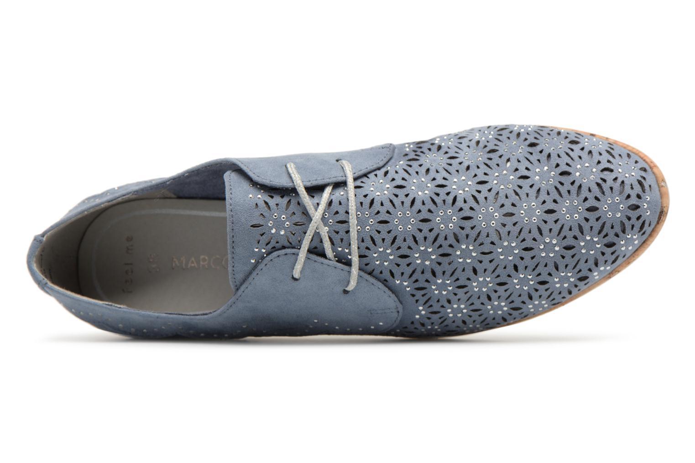 Chaussures à lacets Marco Tozzi Bellu Bleu vue gauche