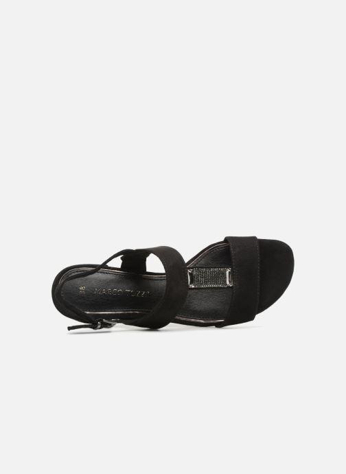 Sandalen Marco Tozzi Nyla 2 schwarz ansicht von links