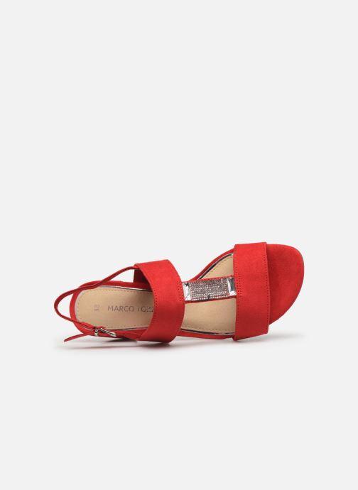 Sandales et nu-pieds Marco Tozzi Nyla 2 Rouge vue gauche
