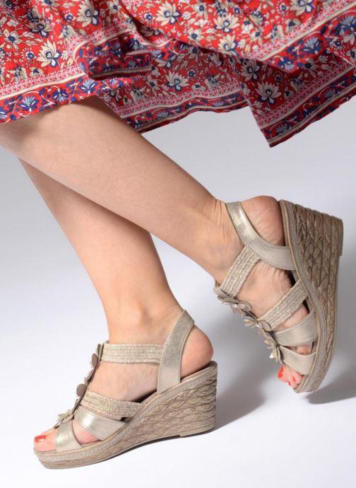 Sandales et nu-pieds Marco Tozzi Blaja Gris vue bas / vue portée sac
