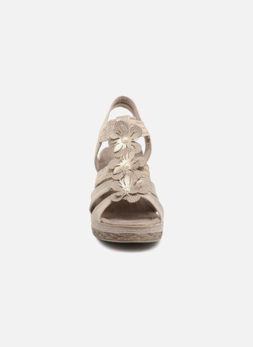 Sandales et nu-pieds Marco Tozzi Blaja Gris vue portées chaussures
