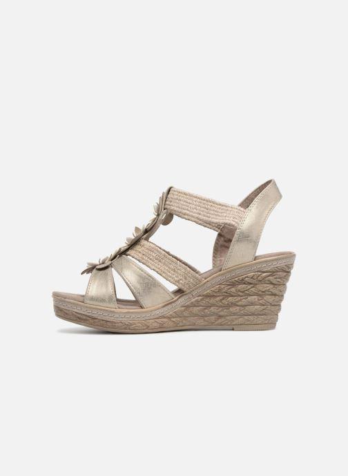 Sandales et nu-pieds Marco Tozzi Blaja Gris vue face