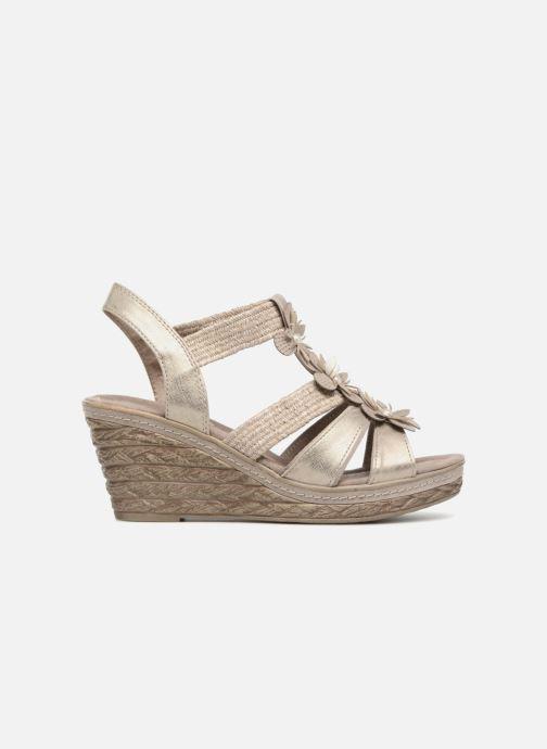 Sandales et nu-pieds Marco Tozzi Blaja Gris vue derrière