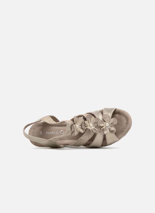 Sandales et nu-pieds Marco Tozzi Blaja Gris vue gauche