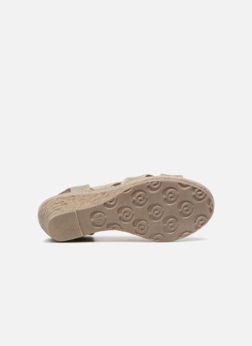 Sandales et nu-pieds Marco Tozzi Blaja Gris vue haut