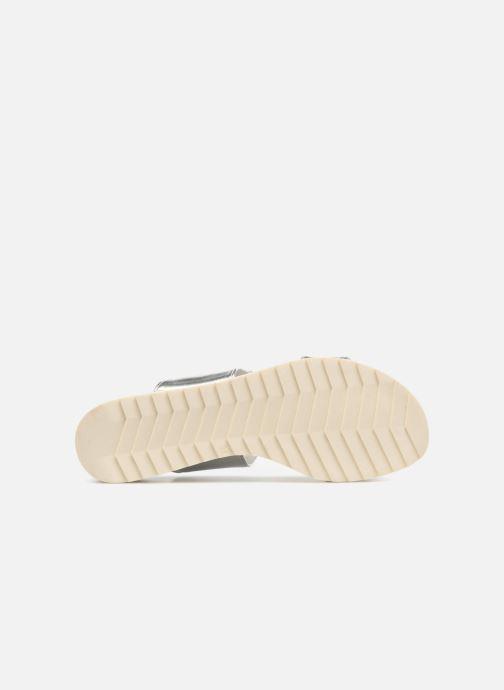 Sandales et nu-pieds Marco Tozzi Ledio Argent vue haut